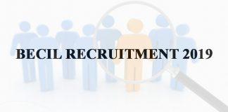 BECIL Recruitment 2019