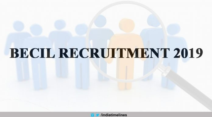 BECIL Recruitment 2019