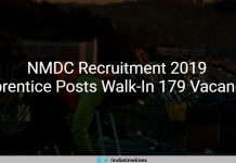 NMDC Recruitment 2019 Walk-In