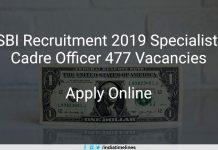 SBI SO Recruitment 2019 Apply Online