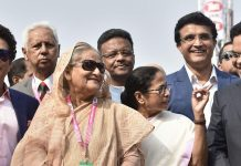Mamta Banerjee arrives at Sourav Ganguly's 49th birthday with sweets and bouquets