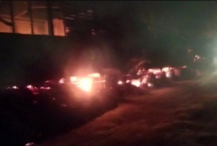 Assam smolders again in violence: 7 trucks set on fire