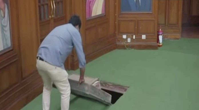 Tunnel found in Delhi Assembly- part of it connected to Red Fort