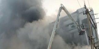 Surat Fire: A huge fire broke out in a packaging company in Surat- 2 died